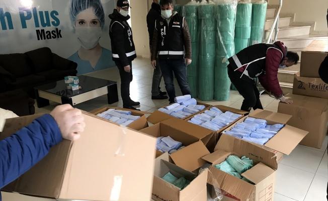 Kaçak üretilen 100 bin maskeye el kondu