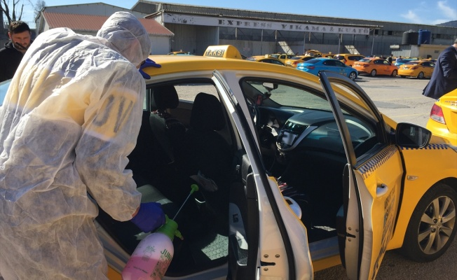 Sabiha Gökçen Havalimanı taksileri düzenli olarak dezenfekte ediliyor