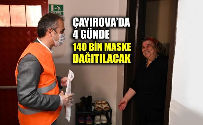 Çayırova'da 4 günde 140 bin maske dağıtılacak