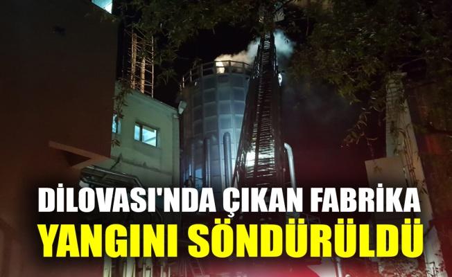 Dilovası'nda çıkan fabrika yangını söndürüldü