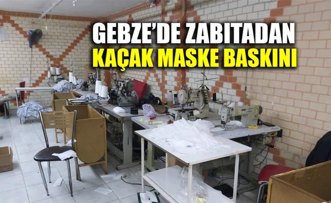 Gebze'de zabıtadan kaçak maske baskını