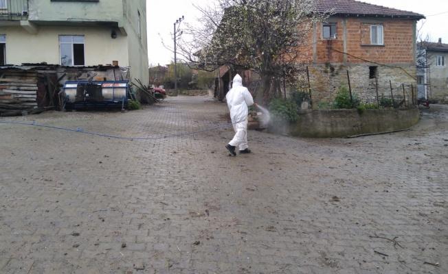İzmit Belediyesi'nden köylerde Covid-19 temizliği
