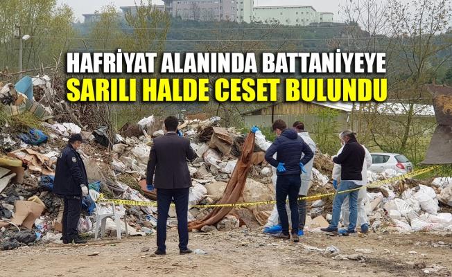 Kocaeli'de hafriyat alanında battaniyeye sarılı halde ceset bulundu