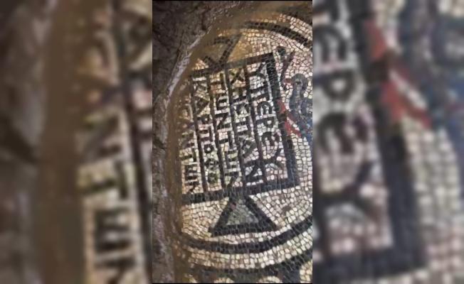 Tarihi eser mozaiği 100 milyon liraya satmaya çalışırken yakalandılar