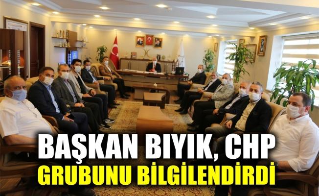 Başkan Bıyık, CHP grubunu bilgilendirdi
