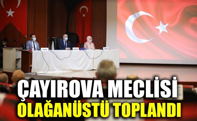 Çayırova meclisi olağanüstü toplandı