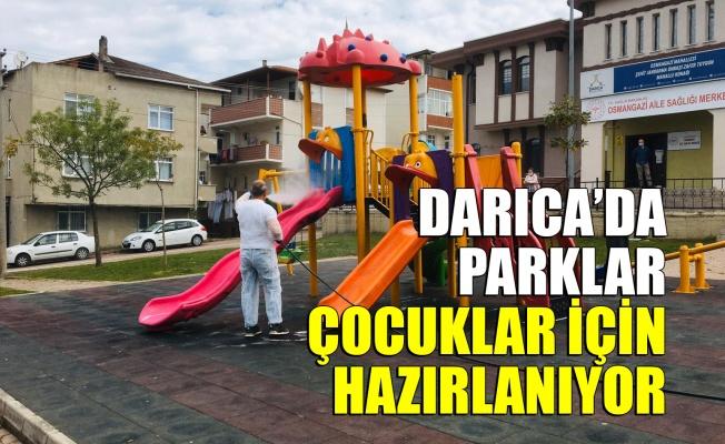 Darıca'da parklar çocuklar için hazırlanıyor