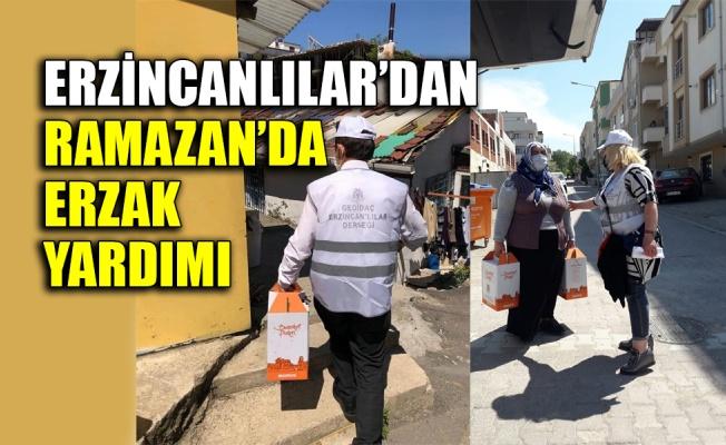 Erzincanlılar'dan erzak yardımı