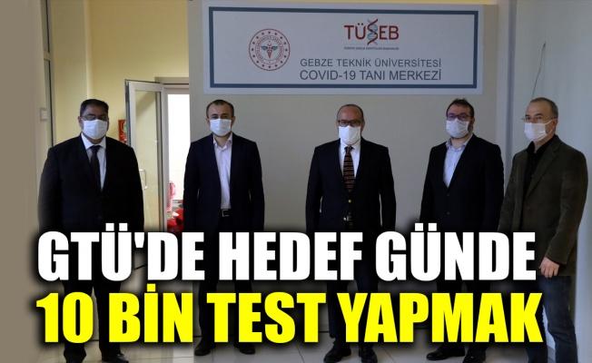 GTÜ'de kurulan Kovid-19 Tanı Merkezi'nde günlük hedef 10 bin test