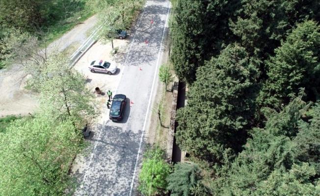 Karamürsel'de jandarmadan drone destekli denetim