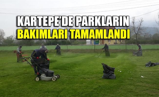 Kartepe'de parkların bakımları tamamlandı