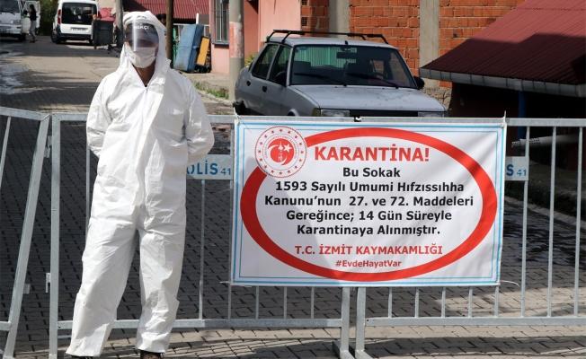 Kocaeli'de iki sokak karantinaya alındı