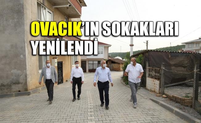 Ovacık'ın sokakları yenilendi