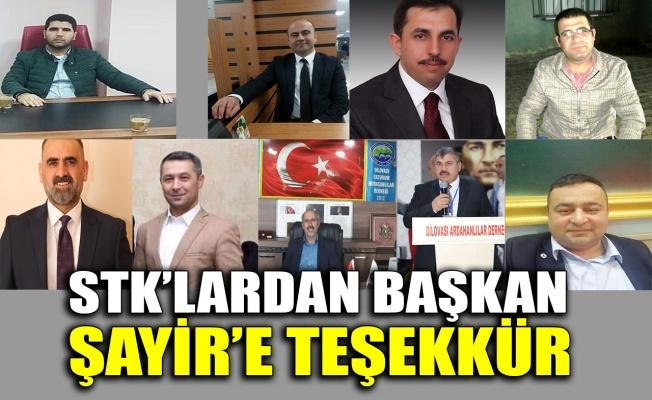 STK'lardan Başkan Şayir'e teşekkür