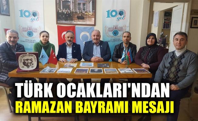 Türk Ocakları Kocaeli Şubesi'nden Ramazan Bayram mesajı