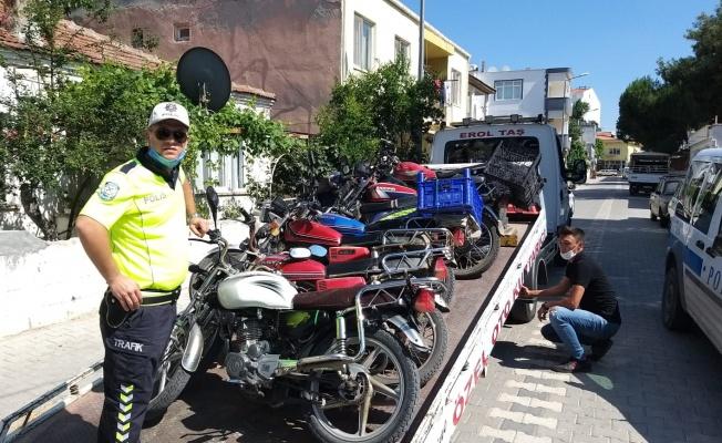 23 motosiklet trafikten menedildi
