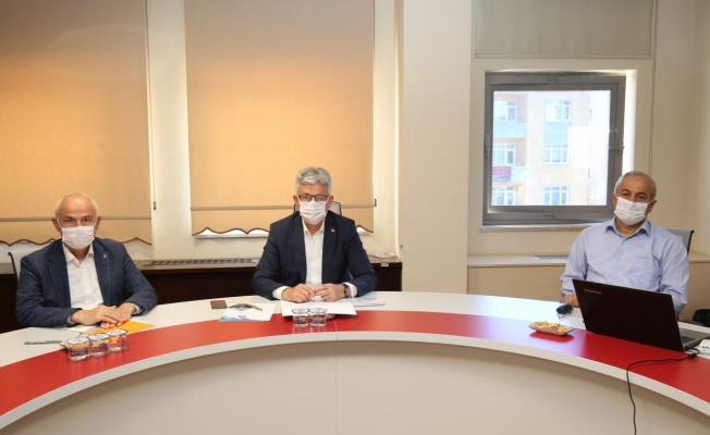 Başkan Büyükgöz'den, İl Başkanı Ellibeş'e hizmet sunumu