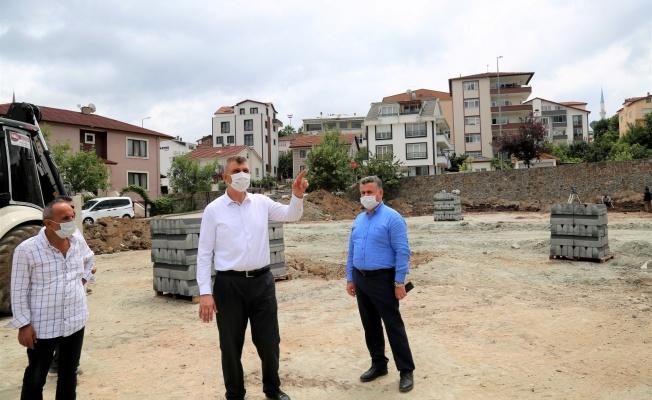 Gölcük Belediyesi İhsaniye Elmalı Park'ın yapımına başladı