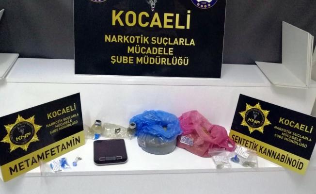 Kocaeli'de uyuşturucu operasyonunda yakalanan 3 zanlı tutuklandı
