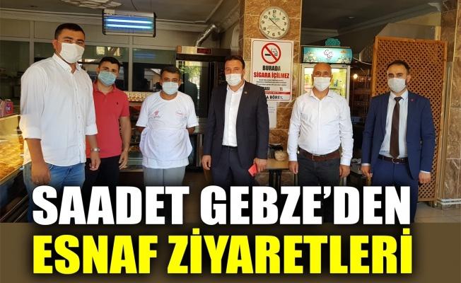 Saadet Gebze'den esnaf ziyaretleri