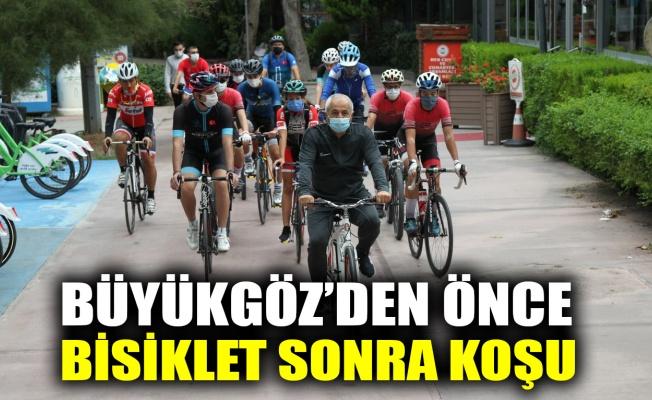 Büyükgöz'den önce bisiklet sonra koşu