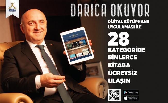 Darıca Belediyesi'nin dijital kütüphane uygulaması yayında