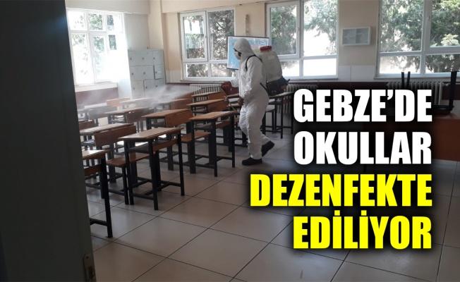 Gebze'de okullar dezenfekte ediliyor