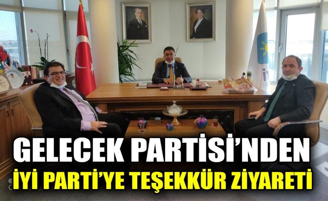 Gelecek Partisi'nden, İYİ Parti'ye teşekkür ziyareti