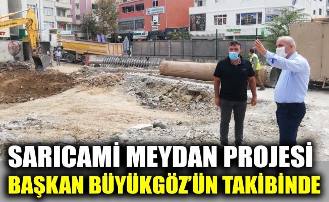 Sarıcami Meydan Projesi Başkan Büyükgöz'ün takibinde