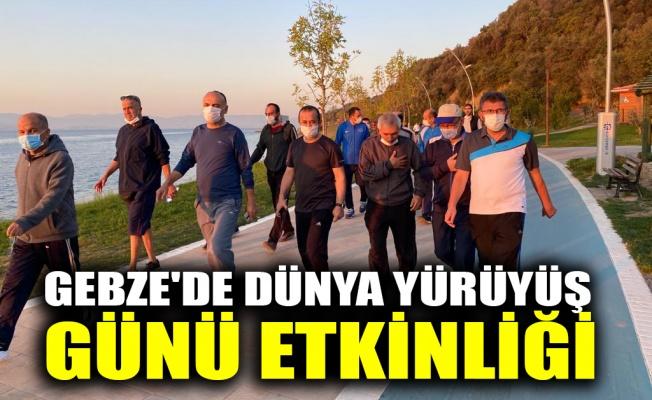 Gebze'de Dünya Yürüyüş Günü etkinliği