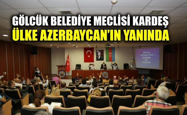 Gölcük Belediye Meclisi kardeş ülke Azerbaycan'ın yanında