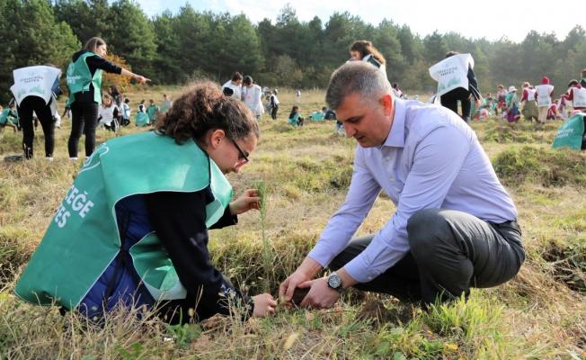 Gölcük Belediyesi kampanyaya 3.100 fidan bağışladı