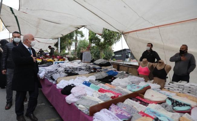 Başkan Bıyık'tan pazar denetimi