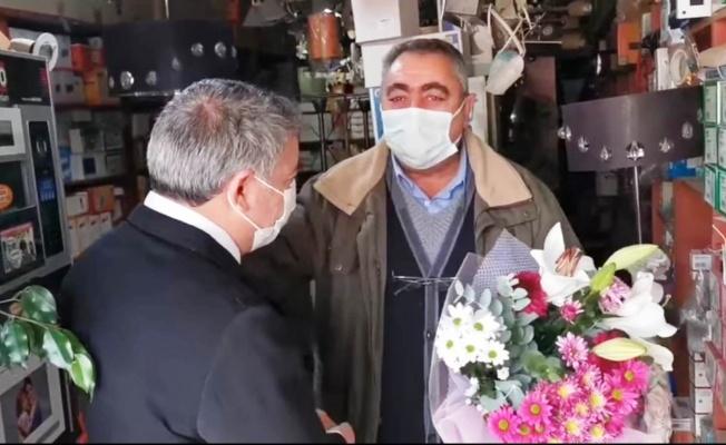 Başkan Şayir'den duygulandıran ziyaret