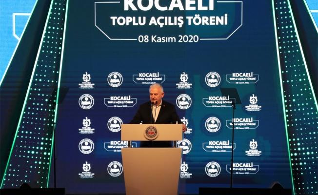 Binali Yıldırım, Kocaeli'nde toplu açılış töreninde konuştu
