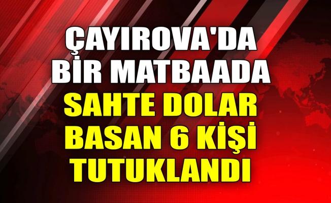 Çayırova'da bir matbaada sahte dolar basan 6 kişi tutuklandı