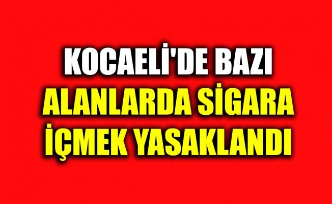 Kocaeli'de Kovid-19 tedbirleri kapsamında bazı alanlarda sigara içmek yasaklandı