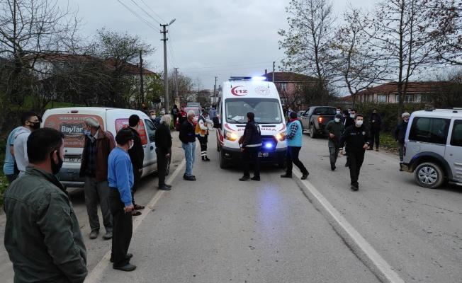 Paket servisi yapan kamyonetin çarptığı kişi ağır yaralandı