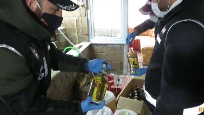 Yılbaşı öncesi 420 litre sahte içki ele geçirildi