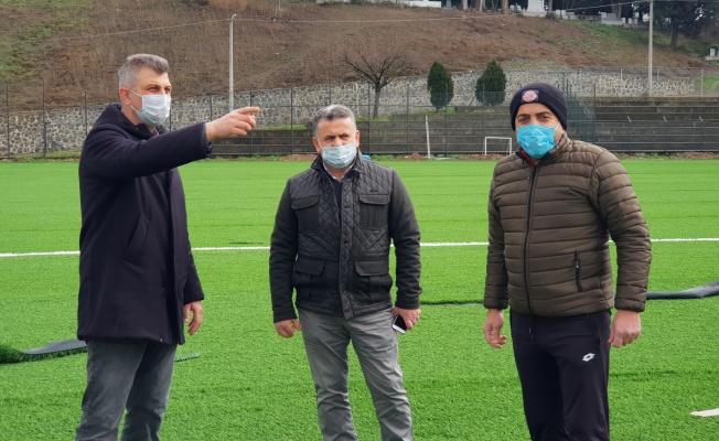 Başkan Sezer Değirmendere Stadını yenileme çalışmasını yerinde inceledi