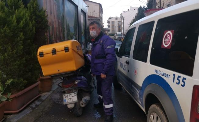 Gebze'de hafif ticari araç ile çarpışan motosikletin sürücüsü yaralandı