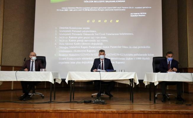 Gölcük Belediye Meclisi Ocak ayı oturumu yapıldı