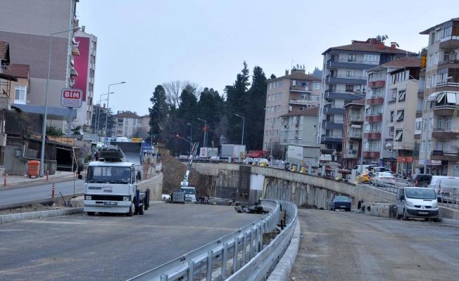 Karamürsel Köprülü Kavşağı tünel kazısında son 100 metre