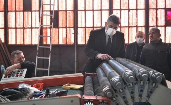 Başkan Kocaman'ın sanayi sitesi turu