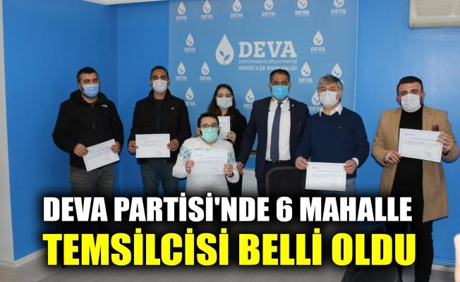 DEVA Partisi'nde 6 mahalle temsilcisi belli oldu