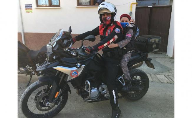 Emniyet mensuplarından polis olmak isteyen çocuğa ziyaret