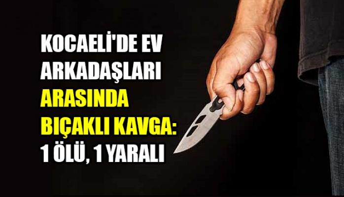 Kocaeli'de ev arkadaşları arasında bıçaklı kavga: 1 ölü, 1 yaralı