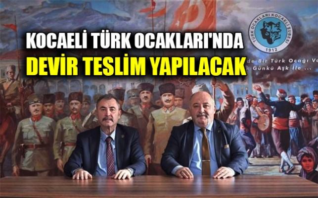 Kocaeli Türk Ocakları'nda devir teslim yapılacak