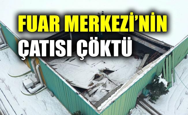 Kocaeli Uluslararası Fuar Merkezi'nin çatısı çöktü
