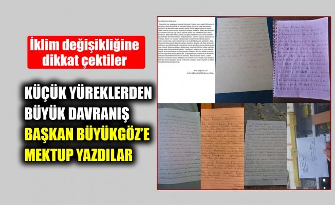 Küçük yüreklerden büyük davranış, Başkan Büyükgöz'e mektup yazdılar